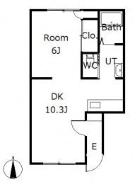 シティハイツ3 E号室