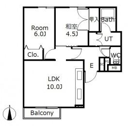 アルファコートⅥ西線Ⅱ B103号室