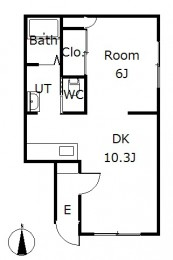 シティハイツ3 F号室