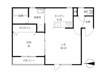 フォンテーヌ弥生 301号室
